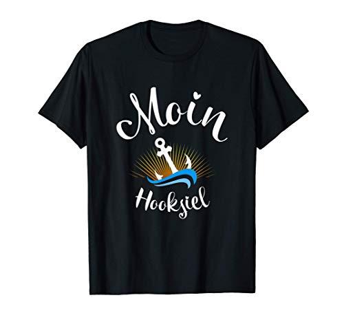 Moin Hooksiel mit Anker für Strandurlaub an Küste und Meer T-Shirt