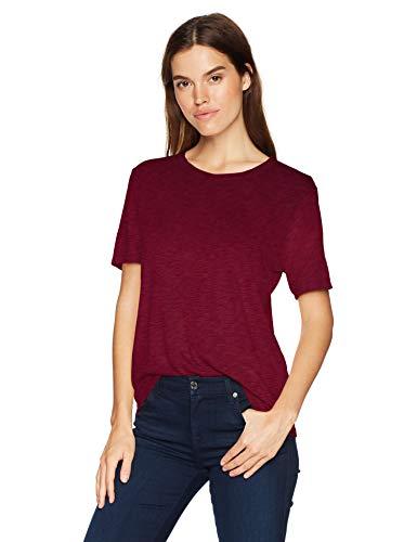 Splendid Women's Crewneck Short Sleeve Tee T-Shirt, Ruby, Small