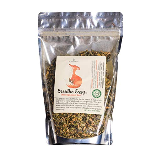 Modest Earth Breathe Easy Tea | Natural Herbal Congestion Relief | Sinuses, Allergies, Coughs, Colds & Stuffy Nose | Natural Antihistamine Remedy | Ginger Decongestant | 48+ SERVINGS (3.75 OZ)