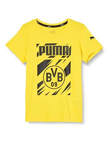 PUMA BVB ftblCore Graphic Tee Jr T-Shirt, Cyber Yellow Black, 110