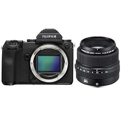 Fujifilm GFX 50S 51.4MP Medium Format Mirrorless Camera (Body Only) with Electronic Viewfinder, Full HD 1080p Video FUJINON GF 63mm F/2.8 R WR Lens by FUJIFILM