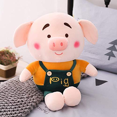 N / A Encantadores Cerdos con Correa Juguetes de Peluche Rellenos Juguetes de Cerdo Suave con Amantes de la Ropa muñeca Animal Regalo de San Valentín y Navidad para niñas 60cm