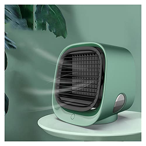 YANGS JUNHU USB Mini Air Cooler Fan Air Cooling Conditioner with Night Light Portable Humidification Desktop Air Cooler Multifunction Summer Portable Tools