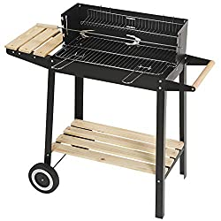 Ideal for outdoor barbecue, family gathering and outdoor parties,suitable for charcoal & wood fuels,which is really stylish and convenient With two wooden shelves to hold your food, plate or anything else With a couple of wheels and handle also make ...