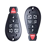 Keyless Remote Key Fob Replacement fits for 2008-2014 Dodge Grand Caravan, 2008-2015 Chrysler Town and Country (M3N5WY783X) 433MHZ,Pack of 2