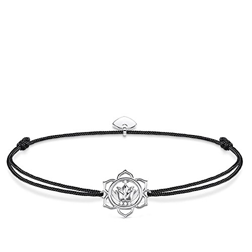 THOMAS SABO Damen Armband Little Secret Lotosblüte Lotosblüte Little Secret 925er Sterlingsilber, Nylon LS015-401-11