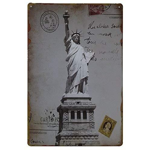 MARQUISE & LOREAN New York Nueva Decoracion Casa Placa Decorativa Pared Cartel Vintage Chapa (Retro, 20 x 30 cm)