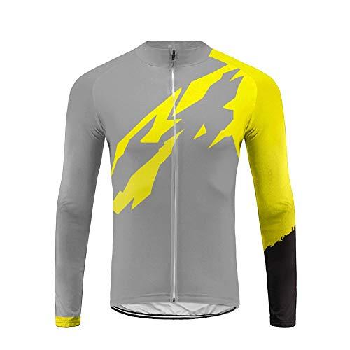 Uglyfrog Radtrikot Trikot Langarm Fahrradtrikot Fahrradshirt Herren Unisex Fahrrad Radsport Thermo Shirt Reflektoren Schnelltrokend