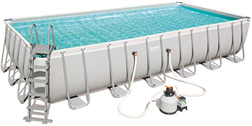 piscina fuori terra alta 150 Bestway Power Steel - Piscina rettangolare con telaio in acciaio