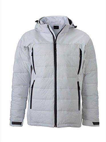 2Store24 Men's Outdoor Hybrid Jacket in White Size: XL