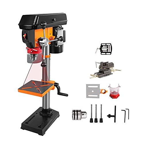 Tischbohrmaschine - Säulenbohrmaschine, 500 W / 750 W Bohrmaschine Mini Industrieller Tischbohrer (8/10 Zoll), Es kann Holz, Eisen, Kunststoff und andere Materialien bohren