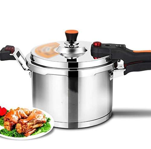 SJHSAIU roestvrijstalen perscooker met automatische veiligheidsslot voor huishoudssuppenpot, grote capaciteit 4-10 liter, 6 zware veiligheidsgarantie voor een groot aantal ovens