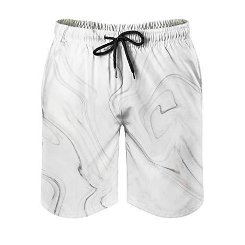 Lind88 Pantalones de playa para hombre, textura de mármol, para deporte, efecto artístico