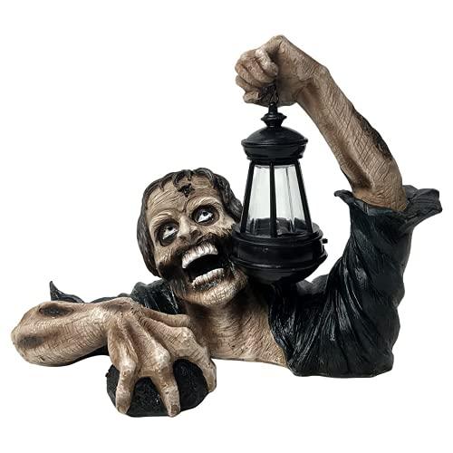 Groundbreaker Zombie Holding Lantern - Halloween Decoration Zombies with Led Light, Scary Halloween...