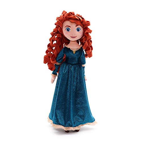 Disney Store Merida Soft Plush Toy Doll - Pixar Brave - 48cm 18inches made with soft-feel fabric with embroidered features, curly hair and her iconic velvet dress - Suitable for Ages 0+