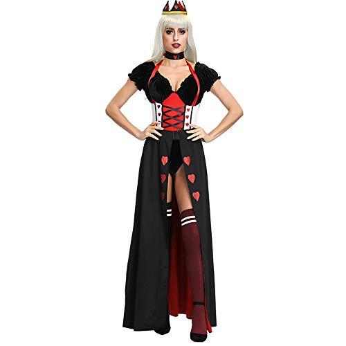 OZ6YA Sexy DessousErotische Unterwäsche Kostüm Prinzessin Königin Kostüm Halloween Alice im Wunderland Böses Rotes Herz Königin Uniform Einheitsgröße BlackOutfit/Weekender Kostüm/Festival