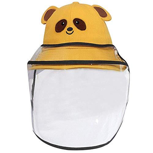 Schattige beer unisex baby zonnehoed verwijderbaar masker kind cartoon visser hoed zomer strand hoed