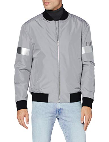 HUGO Mens Boris2041 Jacket, Silver (47), XL