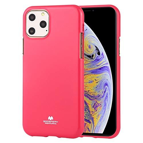 Durable Funda TPU a Prueba de Golpes y arañazos Case for iPhone 11 Pro (Color : Rose Red)