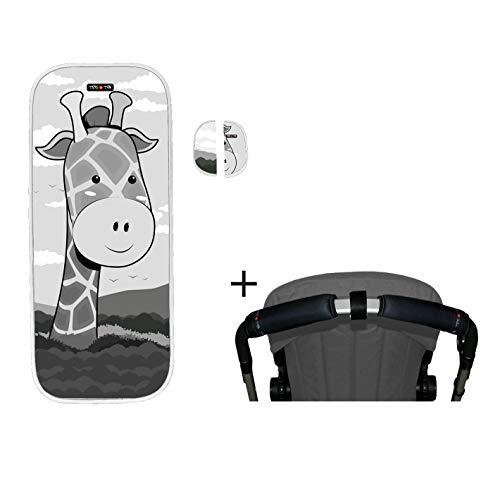 Tris & Ton conjunto colchoneta silla paseo + empuñadura funda protector manillar + protector arneses PMH N (Trisyton) (Giraff)