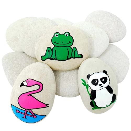 Capcouriers Rocks for Painting, Painting Rocks, Perfect for Rock Painting, 10 to 12 Smooth Rocks for Painting