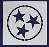 Star Stencil to Make Tennessee State Flag 12 x 12 Inches Overall