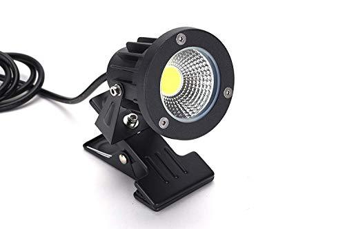 FSLiving 看板用 黒板用照明【防雨型/屋外対応】電球色 3000K LEDクリップライト ピッコロライト コード長3m LED クリップライト 防雨型クリップライト LEDライト 電気スタンド