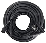 Pronomic Stage EUIECX-15 cable híbrido, enchufe toma tierra sobre enchufe IEC (hembra), XLR/XLR 15m