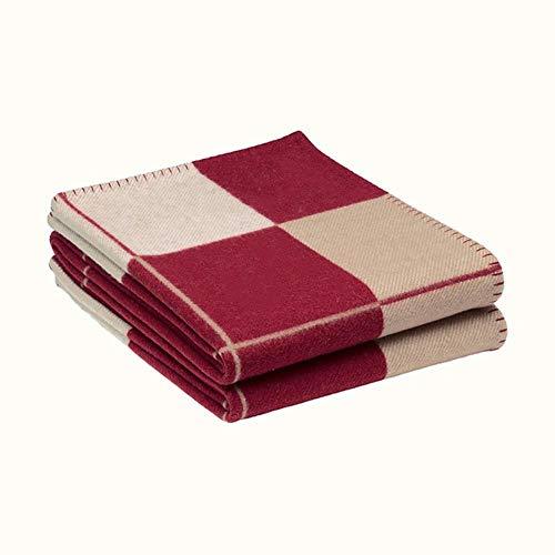 SPRFUL letter h kasjmier deken haak zachte wol sjaal sjaal draagbare warme sofa bed fleece breien voor vriendin moeder geschenken