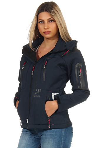 Geographical Norway Chaqueta Softshell para Mujer G-Tansy - Navy/Rose - L/3