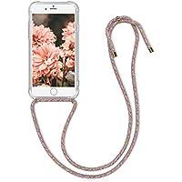 kwmobile Funda con Cuerda Compatible con Apple iPhone 6 / 6S - Carcasa Transparente de TPU con Cuerda para Colgar en el Cuello
