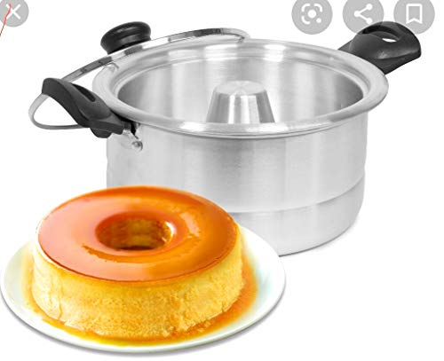 Double Boiler for Flan, Mold Included.