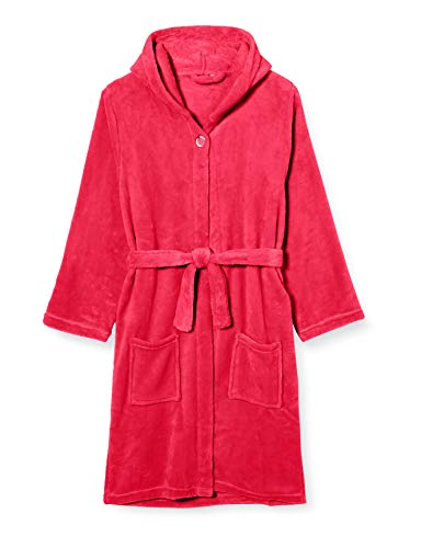 Playshoes Unisex Kinder Fleece-bademantel Uni Bademantel, Rosa (Pink 18), 110-116 EU