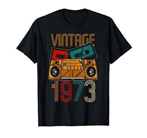 48 Cumpleaños Hombre Mujer 48 Años Vintage 1973 Camiseta