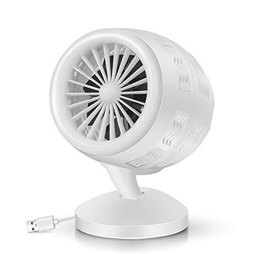 ZHPNG Ventilador De Mesa, Ventilador Turbo Mini Ventilador De Escritorio con Circulación De Aire De Convección Silenciosa, Ventilador De Doble Hoja, para Dormitorio, Despacho,White