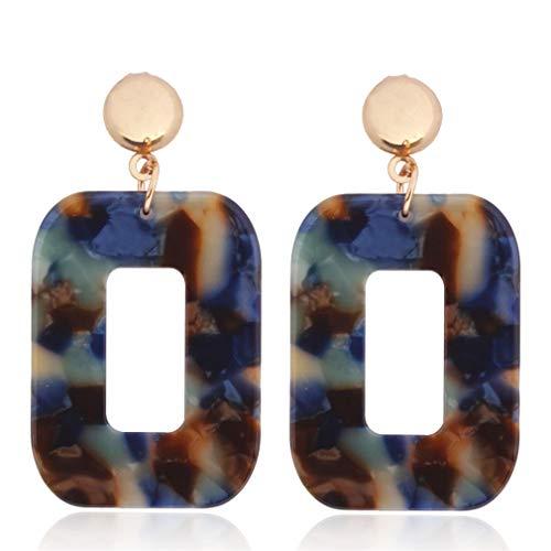 Ai.Moichien Drop Dangle Earrings Resin Acrylic Fashion Geometry Rectangle Women Elegant Jewelry Hypoallergenic Dainty Gifts
