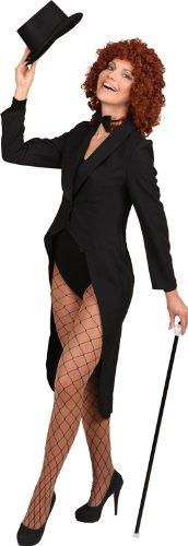 Orlob schwarzer Frack zum Damen Show Kostüm an Karneval Fasching Gr.42/44