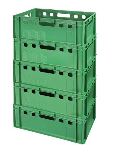 5 Stück E2 Kisten 60x40x20 Fleischkiste Lagerkiste Metzgerkiste in grün
