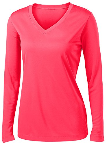 Animal Den Ladies Long Sleeve Moisture Wicking Athletic Shirts Sizes XS-4XL HOTCRL-S