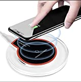 Wireless Charger Compatible iPhone Xs Max, iPhone Xs, iPhone Xr, iPhone X, iPhone 8 8 Plus and Galaxy S9 S8 S8+ & Galaxy S7 Edge & Note 9 8, Qi-Certified Station (Black)