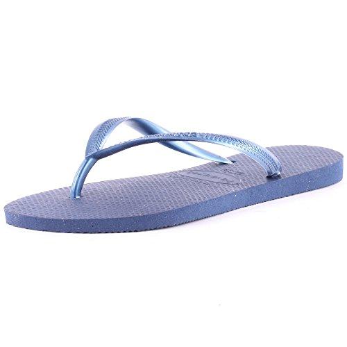 Havaianas Damen Slim Zehentrenner, Blau (Navy Blue 0555), 37/38