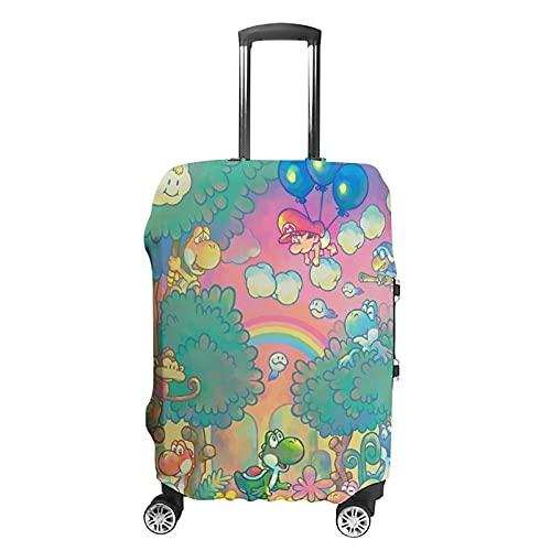 Funda de equipaje lavable con diseño de Mario de dibujos animados, flexible, adecuada para ir a la escuela, viajar, etc. S