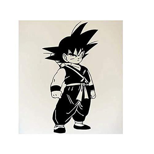 Anime japonés Dragon Ball Goku hombre pared de dibujos animados hogar Anime ventilador decoración vinilo pared pegatina