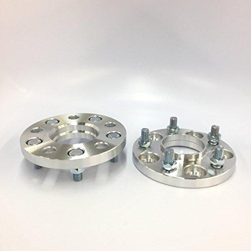Customadeonly 5x114.3 66.1cb 12x1.25 Studs 15mm Inch Hub Centric Wheel Spacers for Infiniti G35, G37, Nissan 240sx 350z 370z 300zx