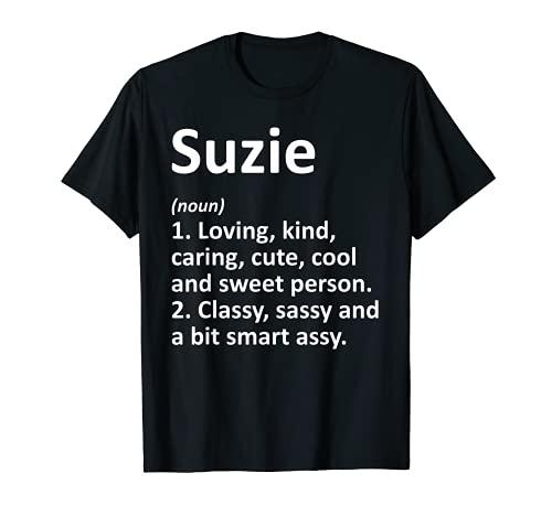 SUZIE Definición Personalizado Nombre Divertido Regalo de Cumpleaños Idea Camiseta