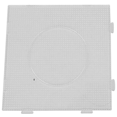 Pasamer 5 Tipi di Modelli di pegboard Geometrici Trasparenti Bambini Bambini Puzzle Giocattoli per Perle Perler 2.6mm(05)
