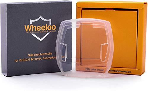 Wheeloo Transparente Schutzhülle für Bosch Intuvia Bedieneinheit Cover mit USB-Anschluss - 100% Durchsichtig - Schutz gegen Kratzer & Wasser - EBike Case E-Bike Display