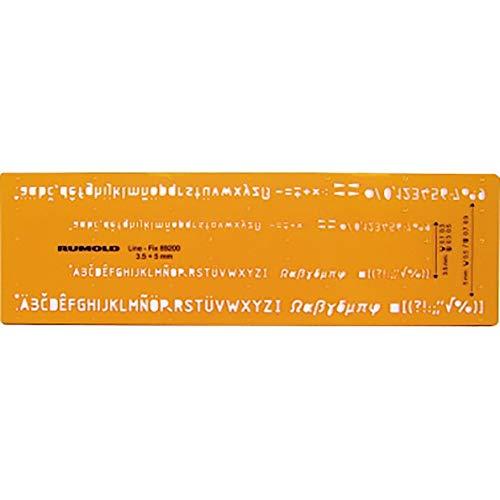RUMOLD 89200 Schriftschablone - Schrifthöhe 0,35 mm und 0,5 mm