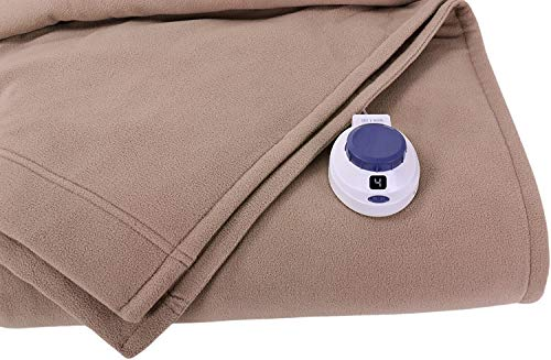 SoftHeat by Perfect Fit | Luxury Fleece Electric Heated Blanket with Safe & Warm...