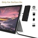 Cateck Microsoft Surface Go Docking Station USB 3.0 Hub Adaptado Surface Go HDMI 4K 2 Puertos USB 3.0 Lector de Tarjetas SD/Micro SD Adaptador Audio Output/Input for Surface Go Pen Accesorios